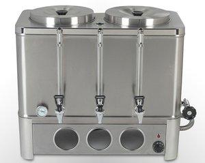Cafetera percoladora a gas de 2 tanques de 12 lt cada uno