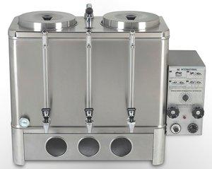 Cafetera percoladora automática a gas de 2 tanques de 20 lt c/u
