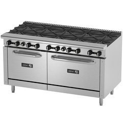 Estufa Asber con 10 quemadores y 2 hornos