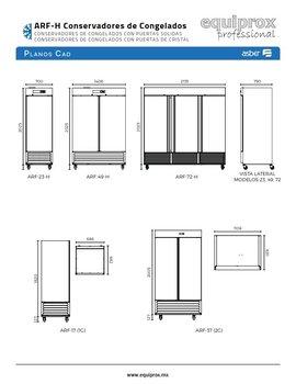 Conservador de congelados de 23 pies cúbicos con puerta sólida