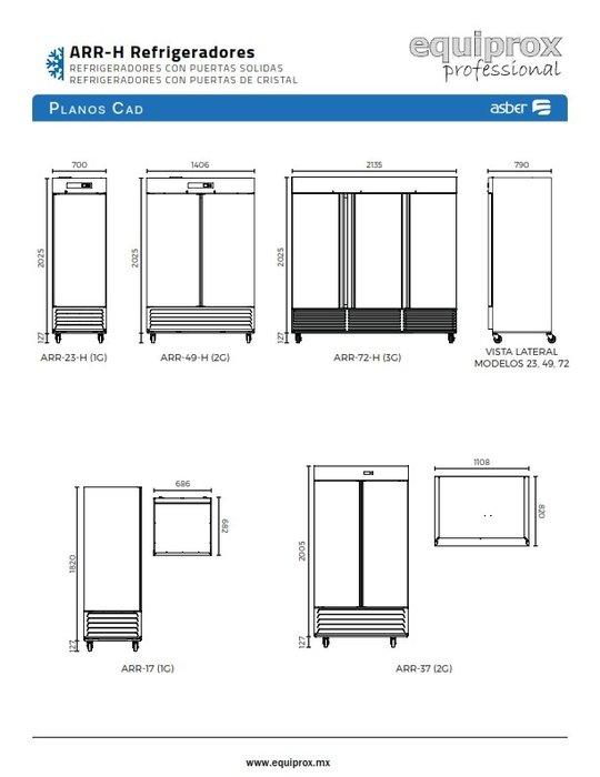 Refrigerador vertical con 1 puerta sólida de 23 pies cúbicos