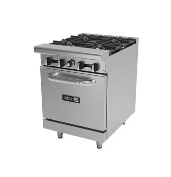 Estufa Asber con 4 quemadores y horno