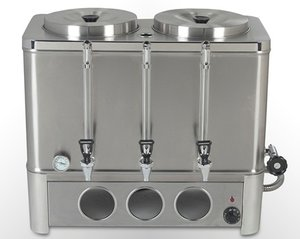 Cafetera percoladora a gas de 2 tanques de 20 lt cada uno