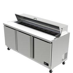 Mesa refrigerada para preparación de alimentos