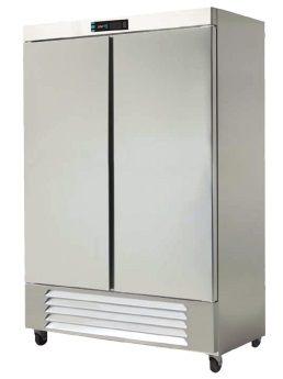 Refrigerador vertical con 2 puertas sólidas de 49 pies cúbicos