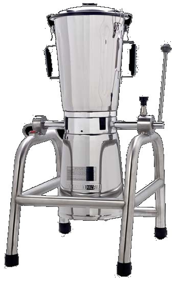 Licuadora industrial volcable de mesa de 12 litros de capacidad.