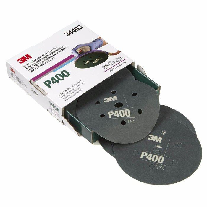 "3M 34403 Disco Abrasivo Flexible 6"" P400"