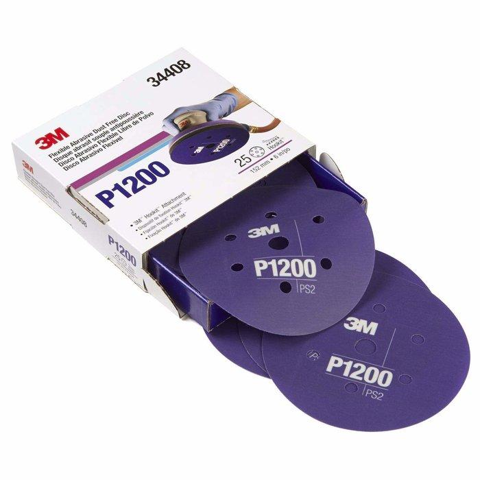 "3M 34408 Disco Abrasivo Flexible 6"" P1200"