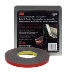 3M 6382 Cinta negra con liner rojo 12mm X 18.3 MT