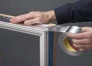3M Aluminum Foil Tape 425 Silver, 4 in x 60 yd 4.6 mil