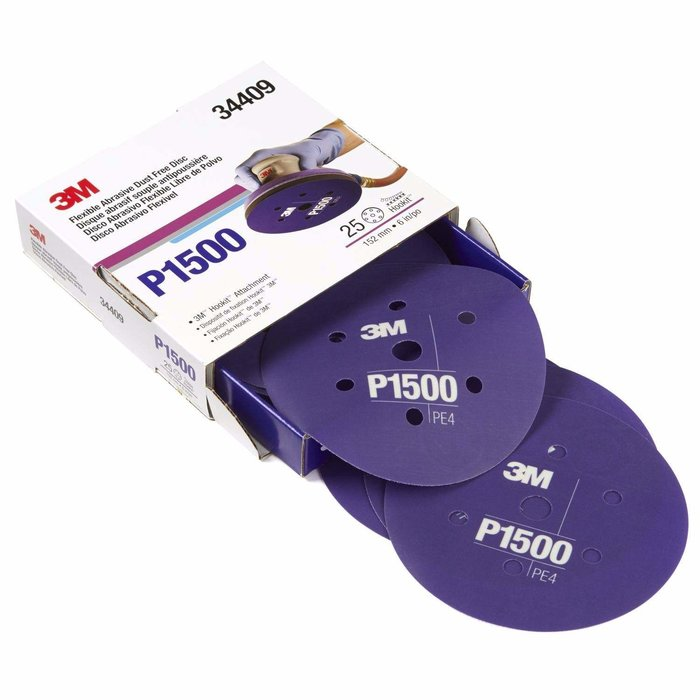 "3M 34409 Disco Abrasivo Flexible 6"" P1500"