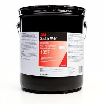 3M 1357 Neoprene Hi Perf Cont Adh 5 Gal Ps Pail -3Mid- 621357