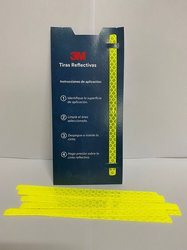3M Cinta reflectiva (Paquete con 12 tiras) Amarilla 7 mm X 145 m