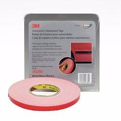 3M 6380 Cinta negra con liner rojo 12mm x 18.3 MT