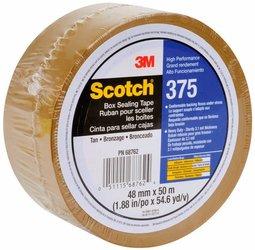 3M 375 Cinta de empaque Alto desempeño Scotch 48 mm x 50 m