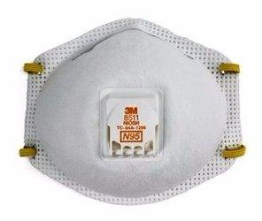 3M 8511 Respirados N95 c/sello facial (Subempaque c/10)