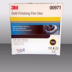 "3M 971 Disco Hookit Gold Film 6"", P600 (Subempaque c/100)"