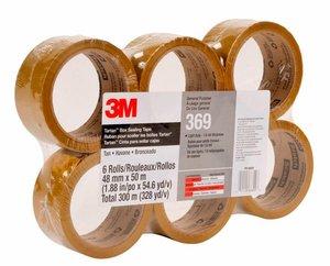 3M 369 Cinta de empaque Uso industrial Tartan 48 mm x 50 m