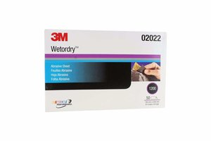 "3M 2022 Imperial Wetordry 5.5"" x 9"" P1200 (1/2 Hoja)"