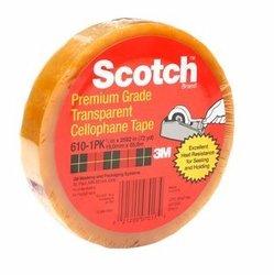 3M 610 Cinta adhesiva de empaque ligero Scotch 12 mm x 66 m