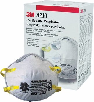 3M 8210N95 Respirador para particulas liquidas N95 c/20