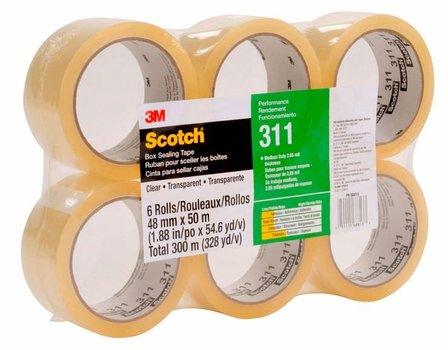 3M 311 Cinta de empaque Alto desempeño Scotch 48mm x 50 m