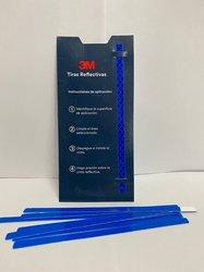 3M Cinta reflectiva (Paquete con 12 tiras) Azul 7 mm X 145 mm