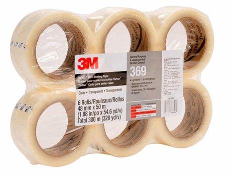 3M 369 Cinta de empaque Uso industrial Tartan 48 mm x 100 m