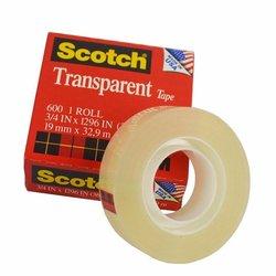 3M 600 Cinta adhesiva de empaque ligero Scotch 18 mm x 66 m