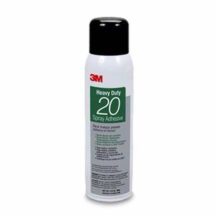 3M 20 Spray Adhesive Clear, Net Wt 13.8 Oz