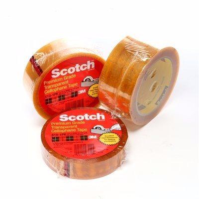 3M 610 Cinta adhesiva de empaque ligero Scotch 24 mm x 66 m