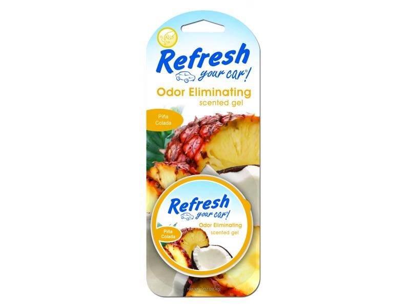 9930 Refresh Your Car® 1oz. Gel Aromatizante Piña Colada