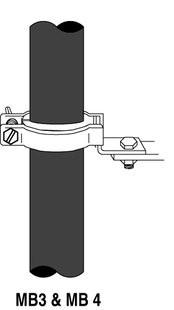 3M Abrazadera para montaje sencillo Triple