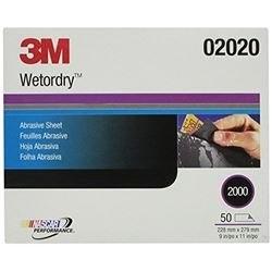 """3M 2020 Imperial Wetordry 9 x 11"""" P2000 (Subempaque c/50)"""