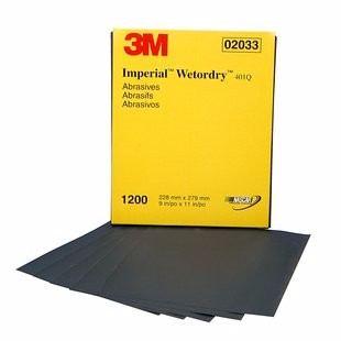 """3M 2033 Imperial Wetordry 9 x 11"""" P1200 (Subempaque c/50)"""