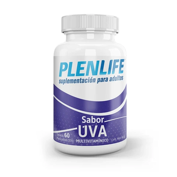 PLENLIFE MULTIVITAMINICO MASTICAFLE 60 TABLETAS UVA