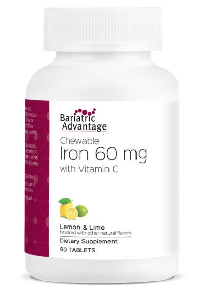 Bariatric Advantage Iron 60 mg Lima-Limón C/90