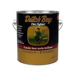 Esmalte Alquidálico Dirt Fighter Dutch Boy Blanco Mate 1 Gal