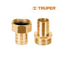 Conector Macho Hembra Truper ¾ pulg CFM3/4B