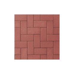 Adoquín Holland Mextile 10 x 20 x 6 cm Rojo Rubí