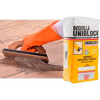 Boquilla con Arena Uniblock 10 kg Blanco
