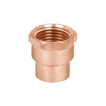 Conector Cobre Rosca Interior Reducido 19 x 13 mm ¾ x ½