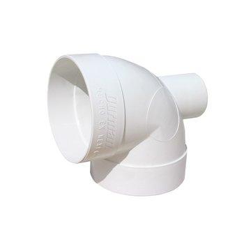 Codo PVC Sanitario 4 x 2 Salida Trasera 90 Grados 100 x 50 mm