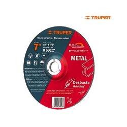 Disco Desbaste Metal Truper 7 pulg Alto Rendimiento