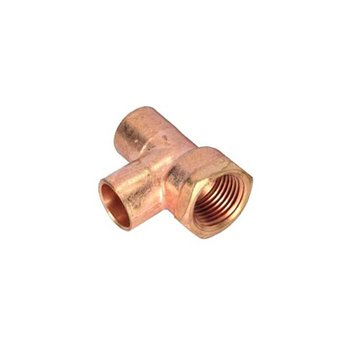 Tee Cobre Rosca Interior Lateral ½ mm ½ T