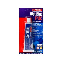 Pegamento PVC Presto Wet Blue 1/6 60 ml