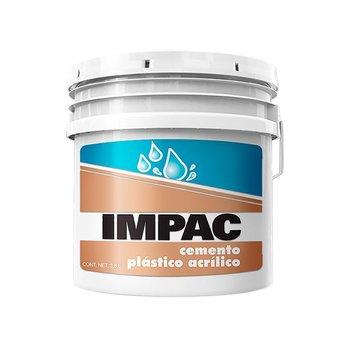 Cemento Plástico Acrílico Impac Blanco 3.8 l