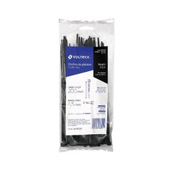 Cincho Plástico Volteck 20 cm Negro Tensión 22.68 kg 50 pz