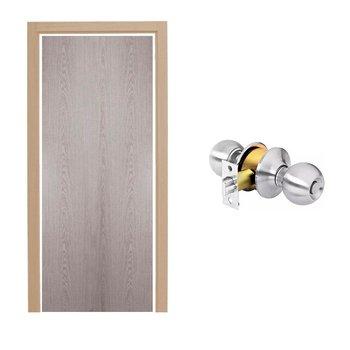 Paquete Puerta Tambor 70 x 213 cm HDF-Roble Gris