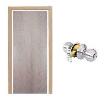 Paquete Puerta Tambor 80 x 213 cm HDF-Roble Gris